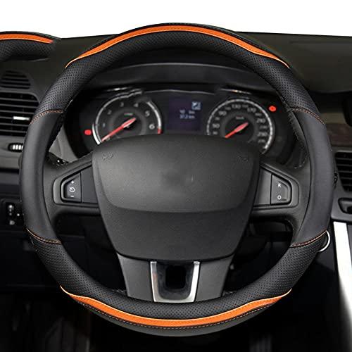 HJPOQZ Accesorios Autos del Cuero De La Microfibra De La Cubierta del Volante del Coche, para Renault Trafic