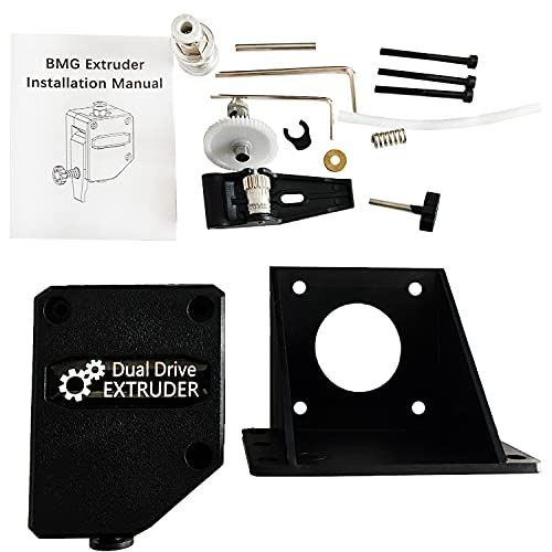 MaxAwe Upgraded Dual Drive Bowden Extruder, BMG Extruder for CR10, Ender 3 Series, Wanhao D9, Anet E10 and Geeetech A10 DIY 3D Printer