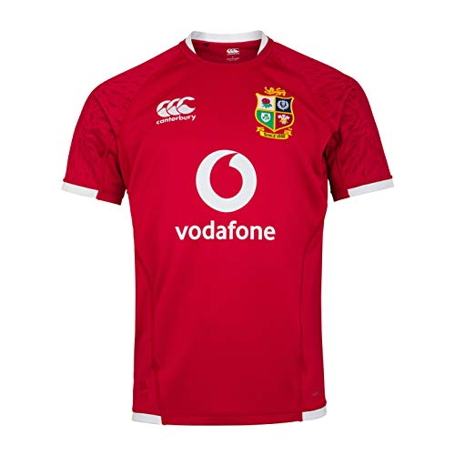 Canterbury British and Irish Lions Rugby Pro Trikot für Herren XXXX-Large Rot - Tango Red