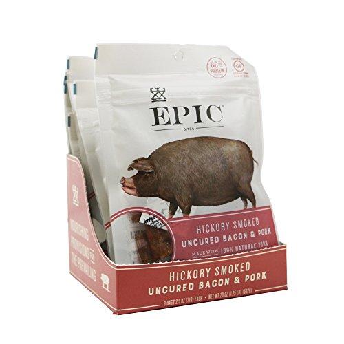 EPIC Uncured Bacon Protein Bites, 8 Count Box 2.5oz pouches