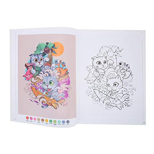 Liner Shader Cute Animal Pattern Tattoo Book Tattoo Practice Template Book 111 Pages Creative New Designs From Tattoo Artists Cute Cartoon