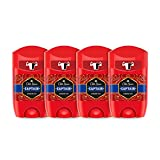 PACK X4 Old Spice Captain Desodorante en Barra para Hombres, 50 ml