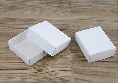 10 maten Kraft Zwart Wit Kartonnen Doos Met Deksel Kraft Papier Blank Doos Doos Doe-het-zelf Craft Cadeaudozen