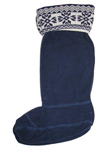 RJM Damen Socken Blau Marineblau