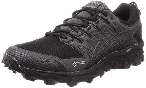 Asics Gel-Fujitrabuco 7 G-TX, Zapatillas de Running para Hombre, Negro (Black/Dark Grey 001), 44 EU