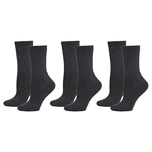 Safersox Mückensocken-Sportsocken Socken - 3er Vorteilspack Anthrazit, 35-38