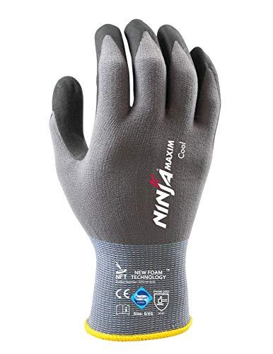 HandschuhMan. Ninja Maxim Arbeitshandschuhe Nitril Gartenhandschuhe Montagehandschuhe Gr. 5-12 (6/XS)
