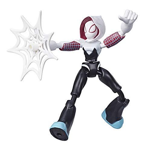 Spiderman- Bend and Flex Figura Ghost Spider 15 cm (Hasbro E76885X0)