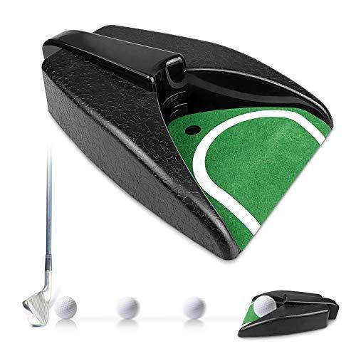 yue PGA Tour Putting Einheit mit automatische Ballrückgabe, Golfball Automatische Rückkehrens-Maschine, Golf Putting Trainingshilfe mit Auto Ball Return für Indoor Outdoor Golf Training