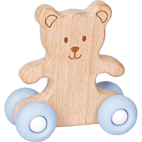 Die Spiegelburg 15821 Schiebe-Teddy aus Holz BabyGlück