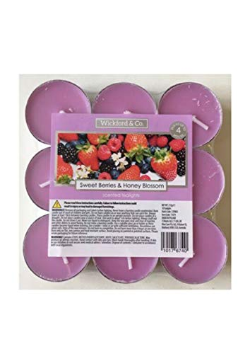 Wickford & Co CANDLE Sweet Berries & Honey Blossom 36 tea lights Scented tealights