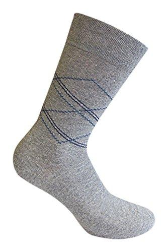 Star Socks Germany 10 Paar moderne Herrensocken Baumwolle Raute (39-42)