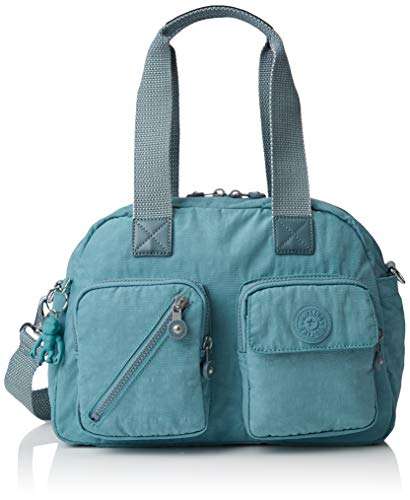 Kipling Defea Up, Women's Satchel, Blue (Aqua Frost), 33x24.5x19 cm (B x H T)