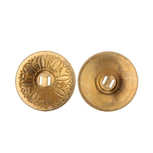 1 Paar Bauchtanz Texturmuster Reinem Kupfer Fingerzimbeln Zills