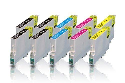 10 kompatible Druckerpatronen für EPSON Stylus D78 D92 D120 DX4000 DX4050 DX4400 DX4450 DX5000 DX5050 DX6000 DX6050 DX7000F DX7400 DX7450 DX8400 DX8450 DX9400F S20 S21 SX100 SX105 SX110 SX115 SX200 SX205 SX210 SX215 SX218 SX400 SX405 SX410 SX415 SX510W SX515W SX600FW SX610FW Office B40W Office BX300F Office BX310FN Office BX600F Office BX600FW Office BX610FW