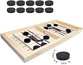 Foosball Winner Hockey Board Game/Bounce Chess, Parent-Child Interactive Chess for Age 4 and Up, A 'No Reading Required' Fun and Fast Family Sling Puck Game You'll Want to Play Again and Again