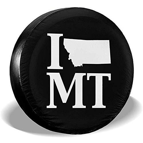 Drew Tours I Heart Love MT Montana Cubierta de llanta de refacción Cubiertas de llanta Impermeables a Prueba de Polvo a Prueba de Polvo -, Remolque, RV, SUV, camión y Muchos vehículos 15 Pulgadas