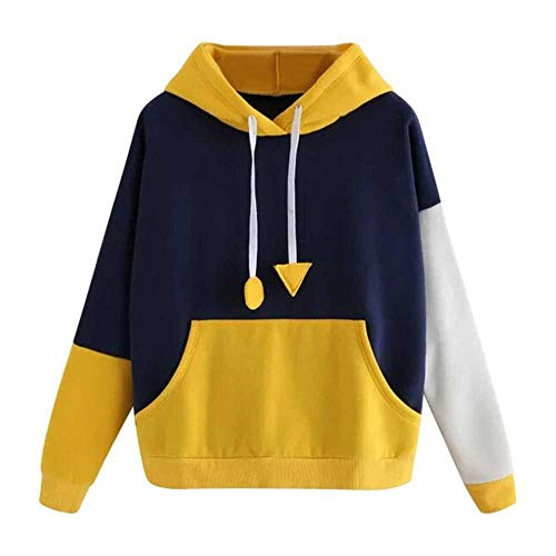 nobrand weibliche Sweatshirts Yellow Womens Hoodies Langarm Hoodie Sweatshirt Hooded Pullover mit Tasche