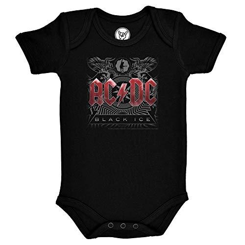 AC/DC Black Ice Strampler Gr. 86, Schwarz