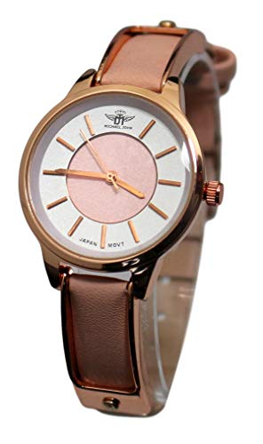 Estuche con reloj de mujer con pulsera de cobre