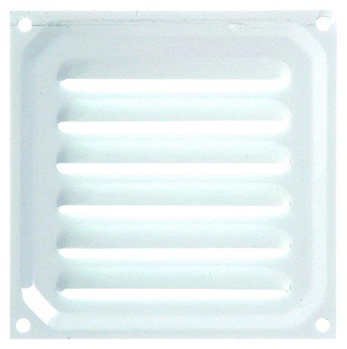 Brinox B70210D Rejilla de ventilación, Lacado Blanco, 10 x 10 cm