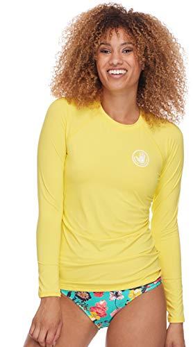 Body Glove Damen Sleek Solid Long Sleeve Rashguard with UPF 50+ Rash Guard Hemd, Smoothies Citrus, Medium