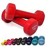 diMio - Manubri in vinile, 0,5–6kg, in confezione doppia, Soft Grip, per Fitness,...