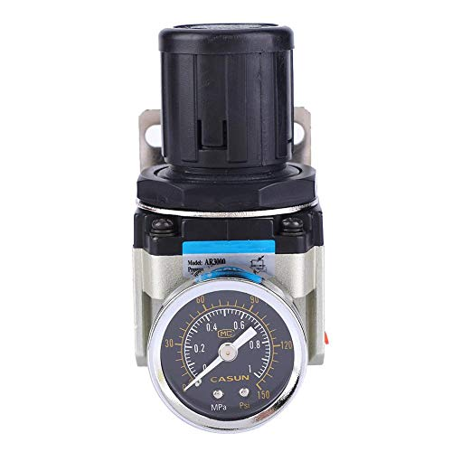 Yosoo AR3000-02 SMC G1/4-10-60℃ 減圧弁 空気ポンプ圧力調整器 空気圧レギュレータ エアフィルター 減圧弁 スプレーガン 圧力制御エアツール用