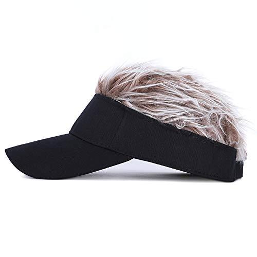 postiche,peruque,rajout cheveux tresses,tete a coiffer,extensions cheveux,Perruque adulte casquette de baseball Hip Hop pare-soleil casquette de golf langue de canard chapeau de soleil