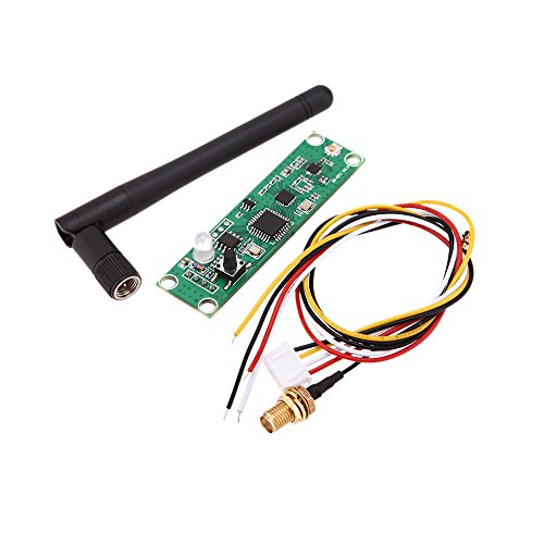 Lixada Wireless DMX512 2.4G Led Stage Light PCB Modules Board LED Controller Transmitter Receiver with Antenna