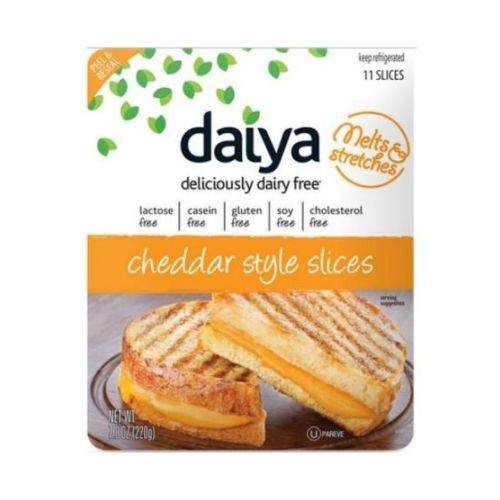 Daiya Cheddar Style Cheese Slices, 7.8 Ounce -- 8 per case.