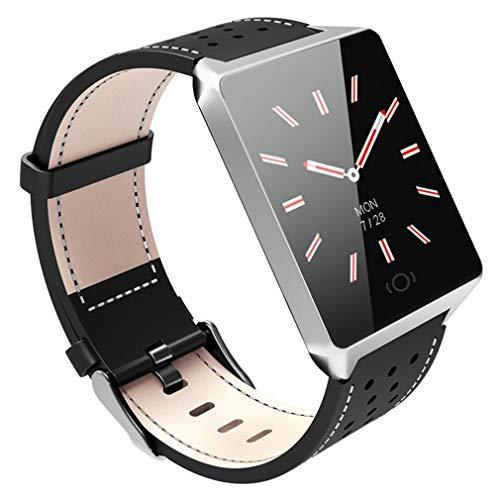 JIEGEGE Smartwatch, IP67 Wasserdichtes, Gehärtetes Glas-Herzfrequenzmessgerät, Blutdruck-Fitness-Tracker, Mehrere Sportmodi Für Android Und IOS