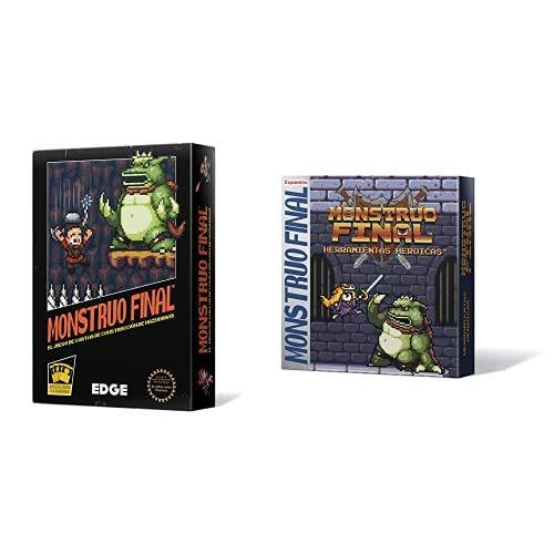 Edge Entertainment Monstruo Final - Juego de Cartas EDGBOS01 + Monstruo Final: Herramientas Heroicas - Español, Color (EEBWBM03)