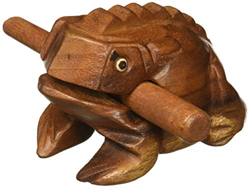 "3. Deluxe Medium 4"" Wood Frog Guiro"