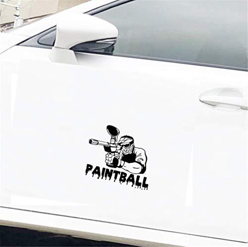 Dkisee Paintball Player Silhouette Sport Ate of Auto Aufkleber, 15,2 cm Vinyl-Aufkleber, trendiger Hipster Aufkleber für Lkw, Stoßstange, Fenster, Laptop, Spiegel, Wände
