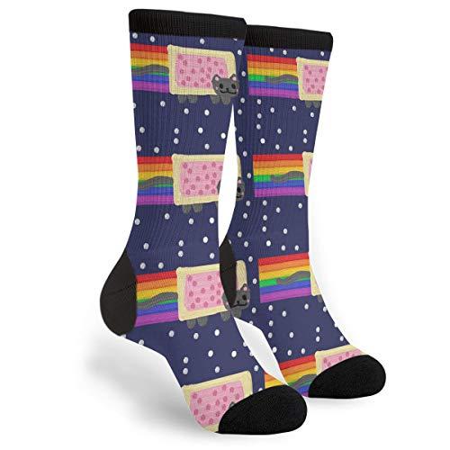 YISHOW Nyan Cat Skl Funny Crew Socks