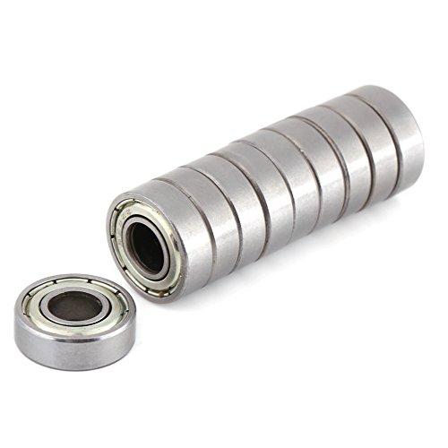 10pcs Mini rodamientos de bolas a prueba de calor Durable Multi-Uso de acero teniendo 698ZZ rodamientos de bolas 8x19x6mm