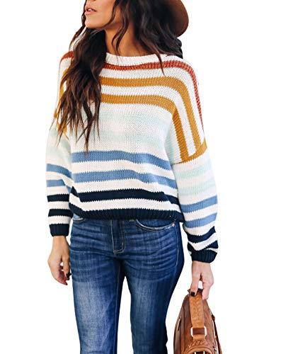 Crew Neck Striped Pullover