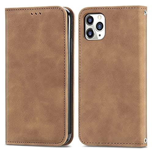 BAOFA Teléfono Flip Funda Shell Funda de Billetera de Flip para iPhone 11 Pro (5.8'), Cubierta de Cuero de Cierre magnético con Portada de Portada de Tarjetas Cubierta de protección Funda Protectora