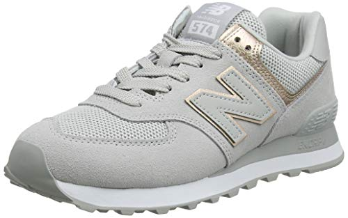 New Balance Damen 574v2 Sneaker, Weiße Regenwolke, 38 EU