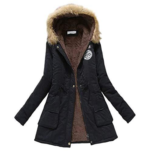 LeftSuper Lady Katoenen jas Dames herfst- en winterjas Damesjas Jas met lange mouwen Warme katoenen kleding