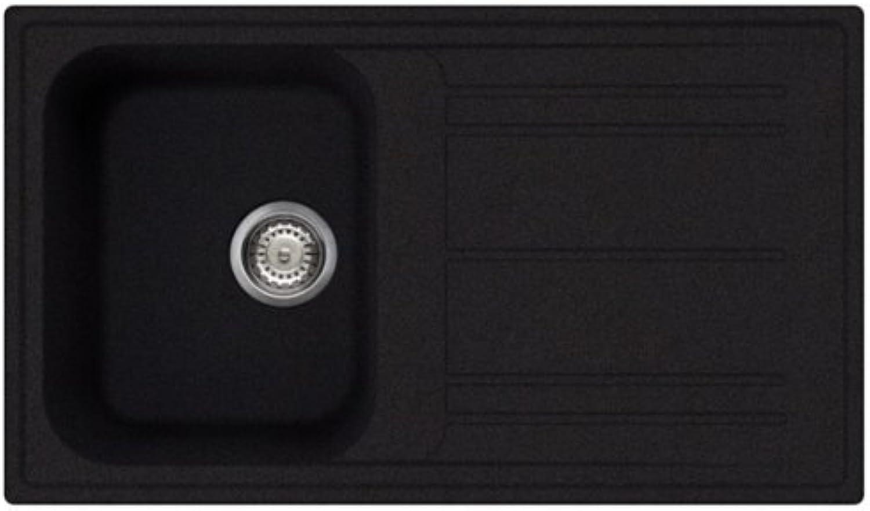 Smeg LZ861A Anthrazit Granit Spülbecken Schwarz Einbau Küchenspüle Auflagespüle