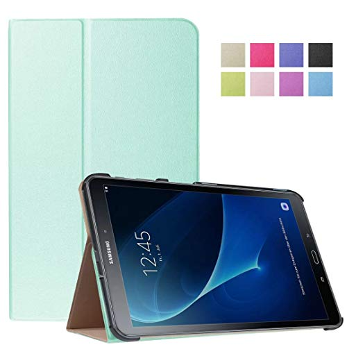 for Samsung Galaxy Tab A 10.1 T580 T585 T587 Tablet Cover, Slim Folding with Auto Wake up/Sleep Folio Stand Leather Case for Galaxy Tab A 10.1' 2016 SM-T580 SM-T585 (No Pen Version) (3-Light Blue)