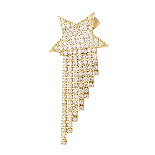TJLSS Zircon Tassel Pins Brooches for Women Event Party Trendy Jewelry Accessories Gift