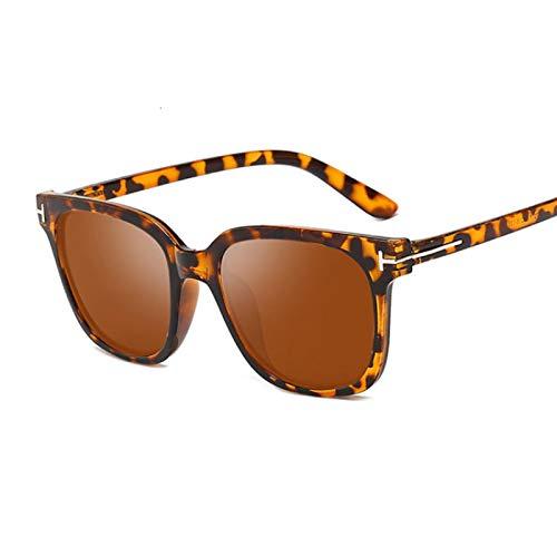 ShSnnwrl Gafas De Moda Gafas De Sol Gafas De Sol Cuadradas De Moda para Mujer, Gafas De Sol De Ojo De Gato Vintage para Mujer, Estilo Retro De Montura Co