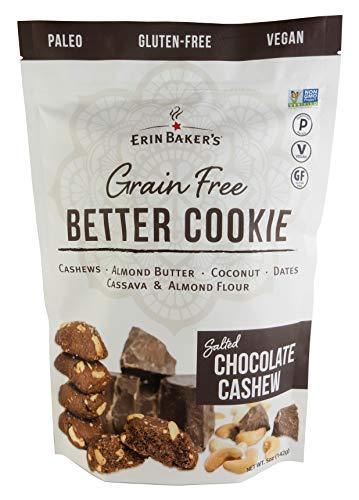 Erin Baker's Grain Free Better Cookie, Paleo, Gluten Free, Vegan, Non-GMO, Salted Chocolate Cashew, 6 Count