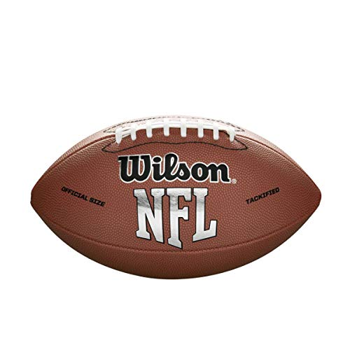 Wilson NFL MVP Official Football - Brown Version , Official (Age 14+)