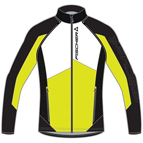 FISCHER stersund Windstopper Lite Z/O Jacket - Black/Yellow/White