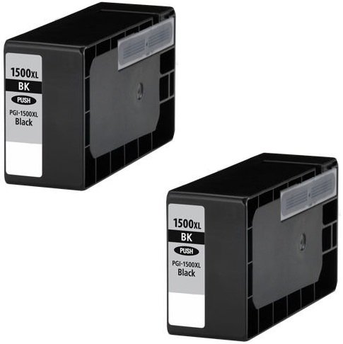 2 XL SCHWARZ Druckerpatronen für Canon Maxify MB2000 Series, MB2050, MB2300 Series, MB2350 | kompatibel zu Canon PGI-1500XL