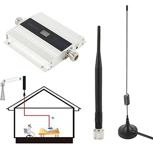 C&JQ gsm 900Mhz Amplificador de Señal de Teléfono Movil,Amplificador de Cobertura Movil Interior Repetidores de Señal de Móviles Facil de Instalar,Plata